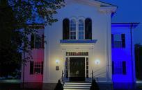 Wenham Town Hall - Gold Star Light Memorial Day 2020
